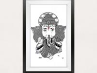 Ganesha Pen illustration