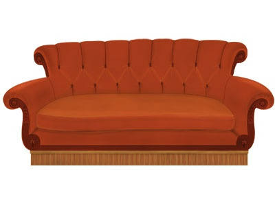 F.r.i.e.n.d.s Couch tv friends central perk tv series