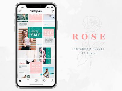 Instagram Puzzle - Rose instagram blog promotions template rose media social instagram puzzle instagram banners instagram posts instagram insta