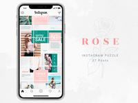 Instagram Puzzle - Rose