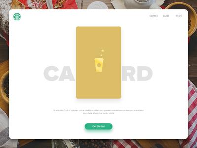 Starbucks Redesign - Card