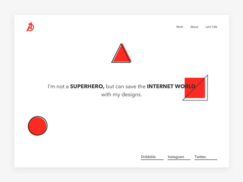 DesignAvenger - Personal Website design branding website personal launch ui layout interface