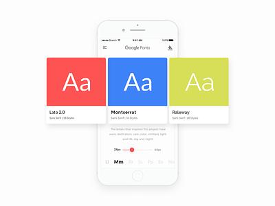 Google Fonts typeface typography minimal white iphone daily ux ui fonts google