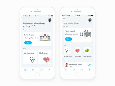 Health App design icons flat doctor medical mobile health ux ui ios app