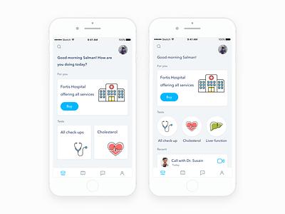 Health App design icons flat doctor medical mobile health ux ui ios app