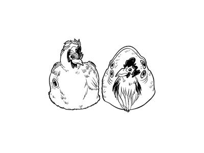Best friends with a fish head eyes bizarre hens chicken fish