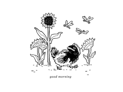 Get this Bread weird fish line drawing pen and ink chicken botanical sunflower