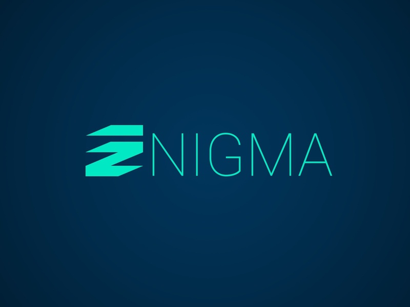 ENIGMA flat adobe photoshop logo graphic design