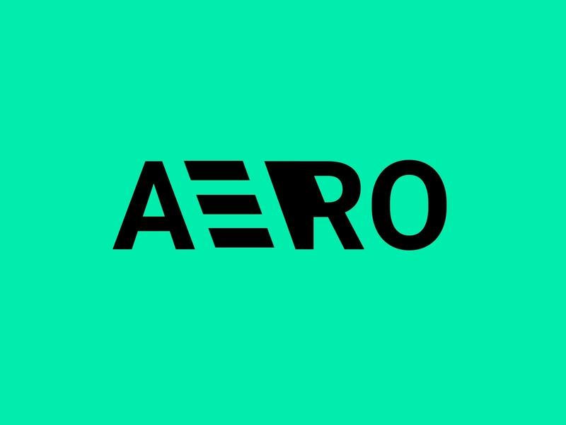 AERO design adobe photoshop ui logo flat graphic design