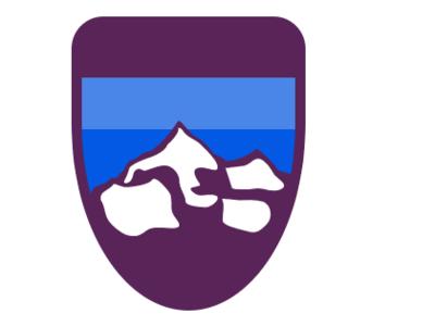 Mountain Badge gravit designer logo vector icon illustration graphic design ui ux design