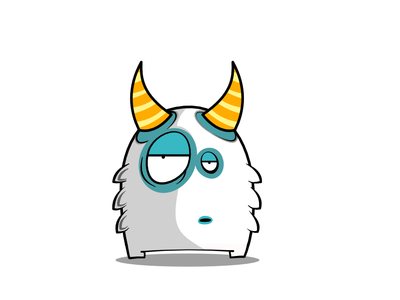 He doesn't give a shit cute snow snowdemon ux kawaii frost flat affinity vector illustration design graphic design ui affinitydesigner