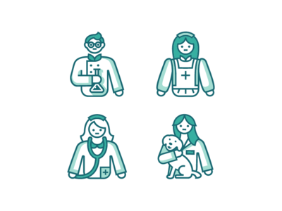 Health Care Professions Icons