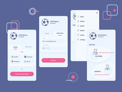 Football app ui app ui design design