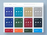 Player Cards infographics pie chart fantasy football dashboard analytics ui charts metrics