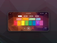 specdrums beats rhythm mobile app mobile ui game