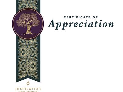 Israel Trees Certificate certificate printed envelope