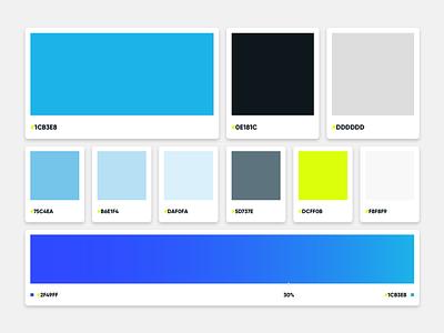 Brand Colors Est. 2018 ui rebrand color palette design branding