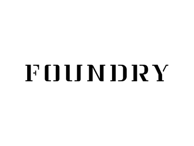 Foundry slab serif stencil typography type