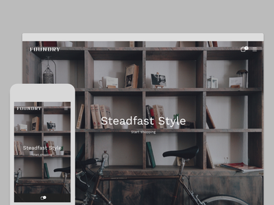 Foundry Theme ecommerce photography products shop store demo ui template theme bigcartel
