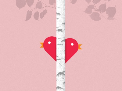 Love Birds valentines day love tree heart bird valentine