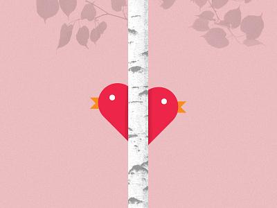 Love Birds valentines day love tree heart bird valentine