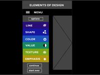 App Mock, Elements of Design