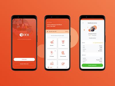 Redesign | Dixx - Serviços Domésticos dixx design salvador brasil app ui