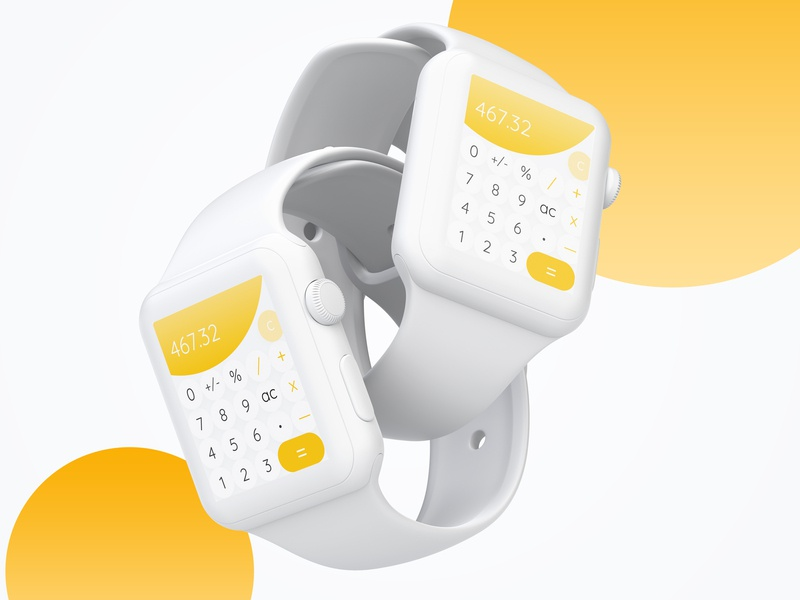 Daily UI #004 Calculator watch ui watch os apple watch calculator calculator app calculator ui app web ux designer ux ui  ux design ui dailyui