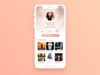 Daily UI #006 Profile page