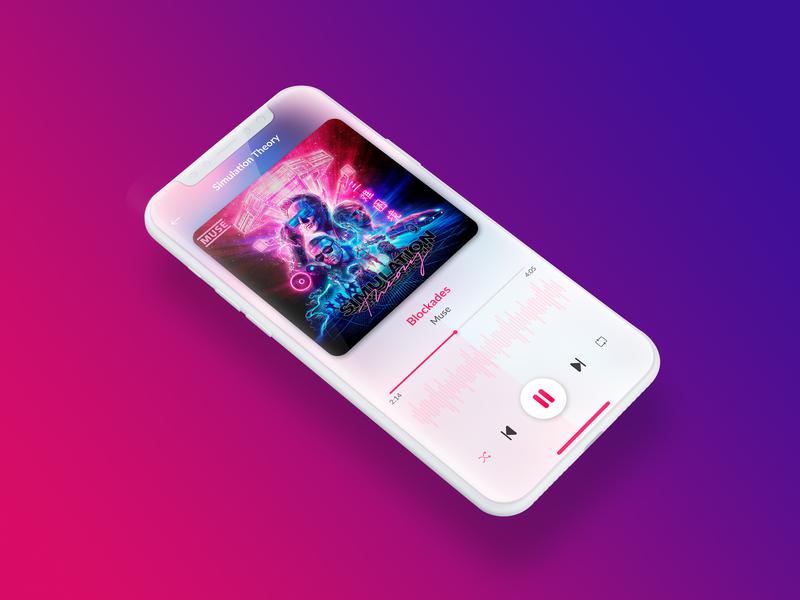 Daily UI #009 Music Player simulation theory music app muse design app ux designer ux ui  ux design ui dailyui