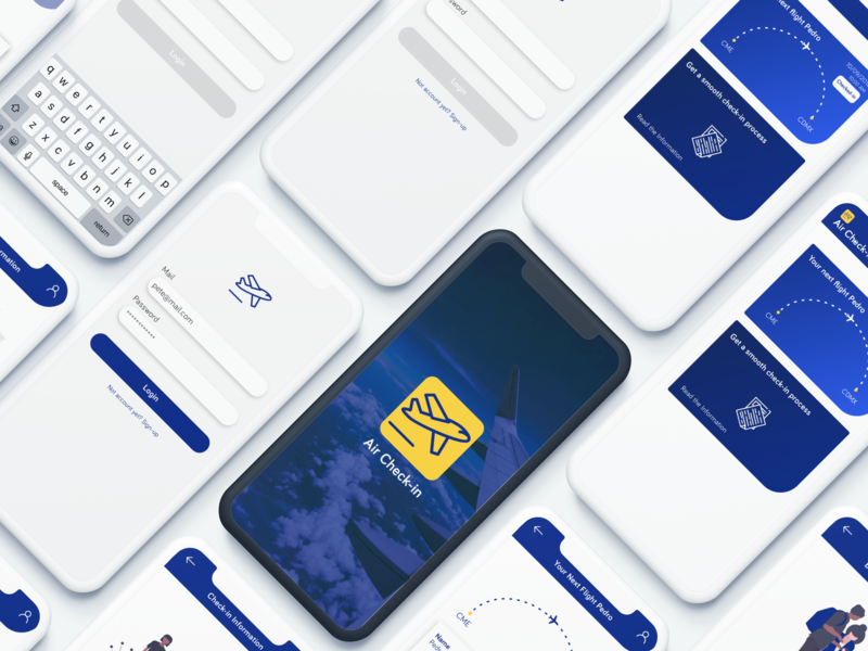 Airport Check-in App check-in airport iphone iphone app vector design web ux designer ux ui  ux design ui app