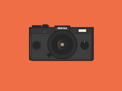 Pentax Q-S1 camera pentax vector illustration icon