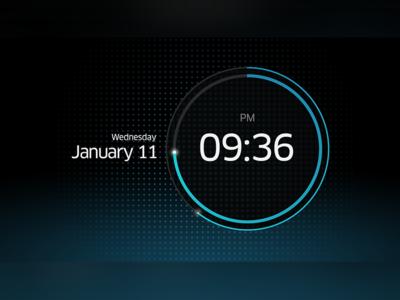 Alarm Clock UI ui user interface alarm clock time radial stage date