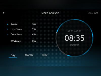Sleep Analysis UI ui user interface sleep analysis radial time date alarm clock modern