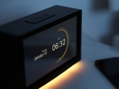 Alarm Clock concept ui user interface alarm clock time radial date product design industrial light ambient