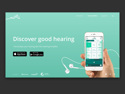 Mimi.io Website #2 mimi landing page web green webdesign ux app ui