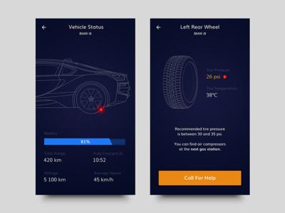 Car App Concept user interface ui car ios design app