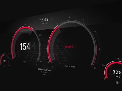 Car UI speed dashboard modern design user interface ui interface car