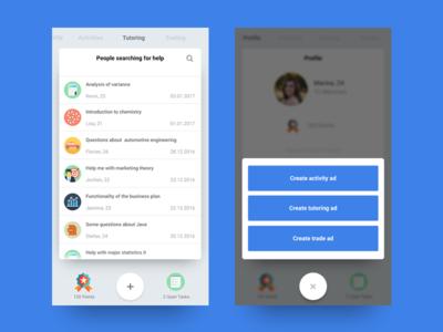 Social App Concept shadow social user interface ios ux ui app