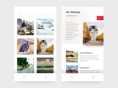 App Concept for Artists profile gallery paintings artist user interface ios ux ui app