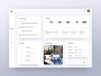 Dashboard Concept user interface modern web interface shadow menu ux ui dashboard