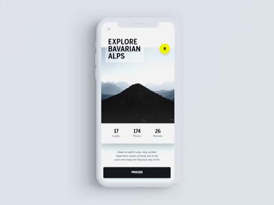 Adobe XD Travel App