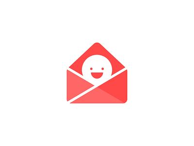 Really Good Emails Logo Final rge good emails logo illustration project new smile message