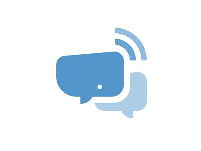Whale Logo Mark whale chat wifi shape logo brand bubble cute design simple mark startup