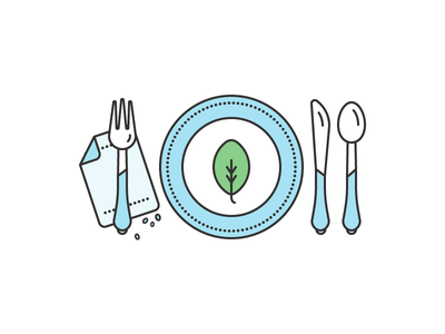 Eat! icon eat healthy illustration leaf fork spoon knife web vector simple