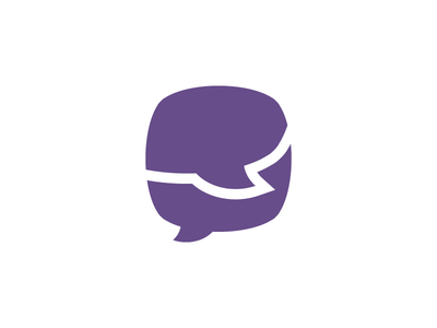 Logomark logo chat bubble talk mark simple