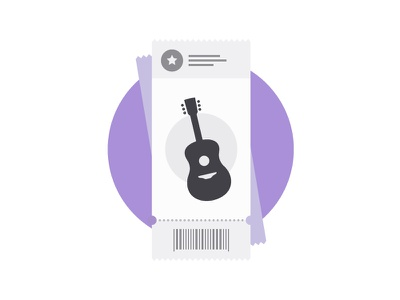 Country Concert Ticket illustration music ticket gig concert country