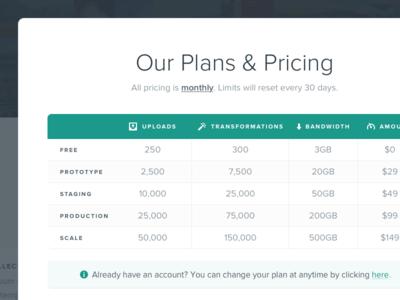 Pricing Modal