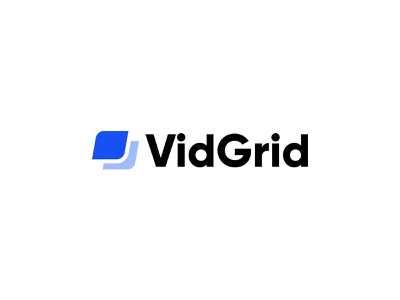 VidGrid Logo brand mark identity grid video design logo