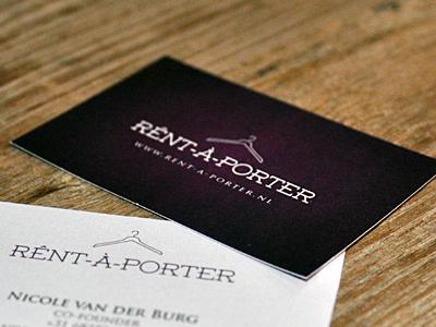 Rênt-â-Porter rent a porter juan arias logo design concept design business cards